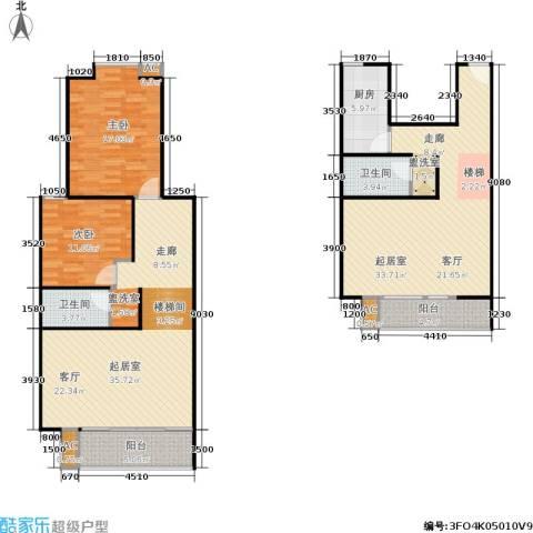 世涛天朗一期2室0厅2卫1厨123.60㎡户型图