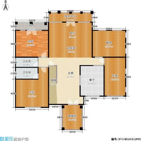 天恒・半山世家2室1厅2卫1厨217.00㎡户型图