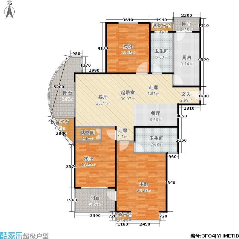 绿都城143.26㎡三期57#、58#、60面积14326m户型