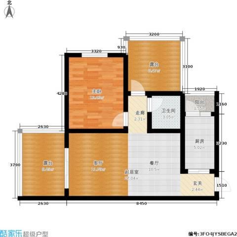 木里小镇1室0厅1卫1厨66.07㎡户型图
