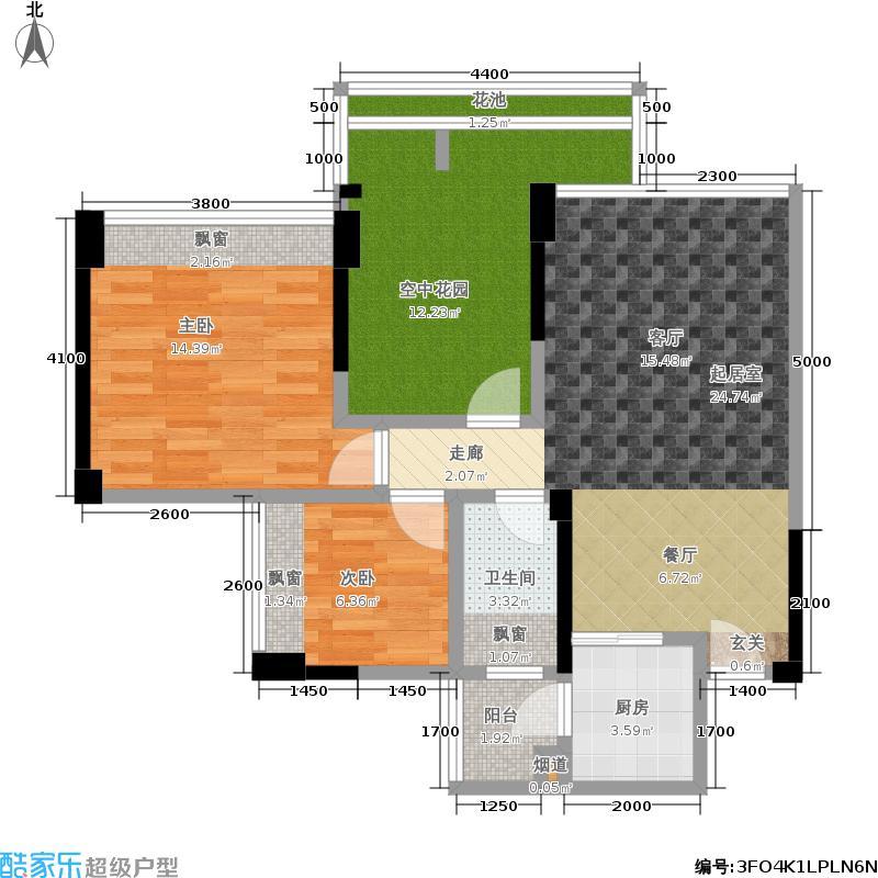 五福里78.00㎡3栋2-19、21-22层05户型3室2厅