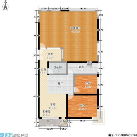 A派公寓2室1厅1卫1厨130.20㎡户型图