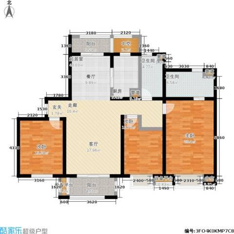 农房万祥金邸3室0厅2卫1厨132.00㎡户型图