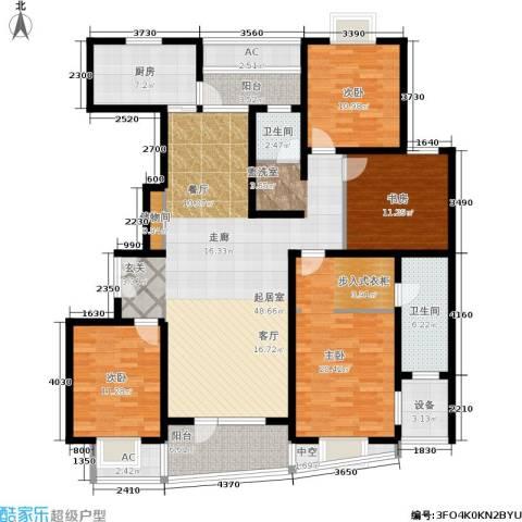 鼎鑫名流苑4室0厅2卫1厨162.00㎡户型图