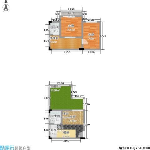 汇祥云深处2室1厅2卫0厨67.00㎡户型图