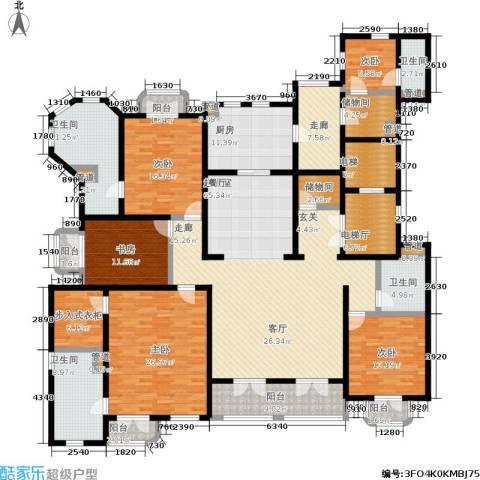 西郊庄园马德里洋房5室0厅4卫1厨260.00㎡户型图