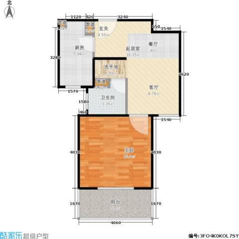 骏丰玲珑坊1室0厅1卫1厨55.00㎡户型图