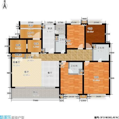 翡丽云邸4室1厅3卫1厨190.00㎡户型图