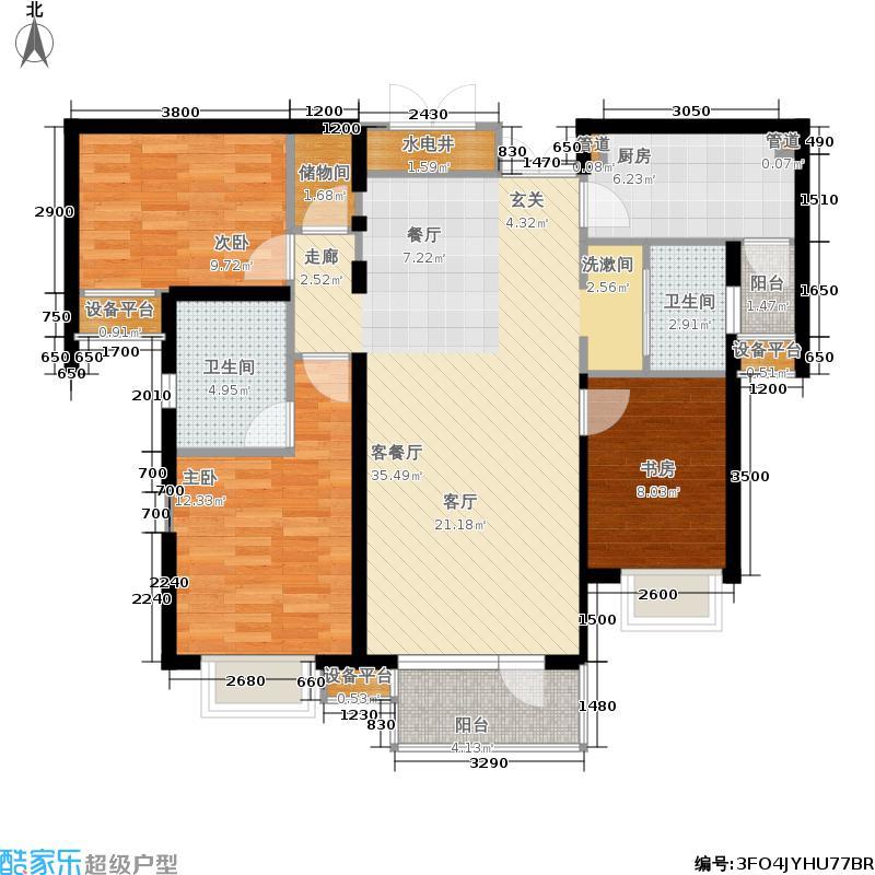 隆福国际122.19㎡6#B南1面积12219m户型