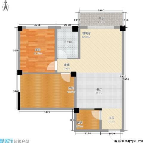 太子花苑2室1厅1卫1厨76.00㎡户型图