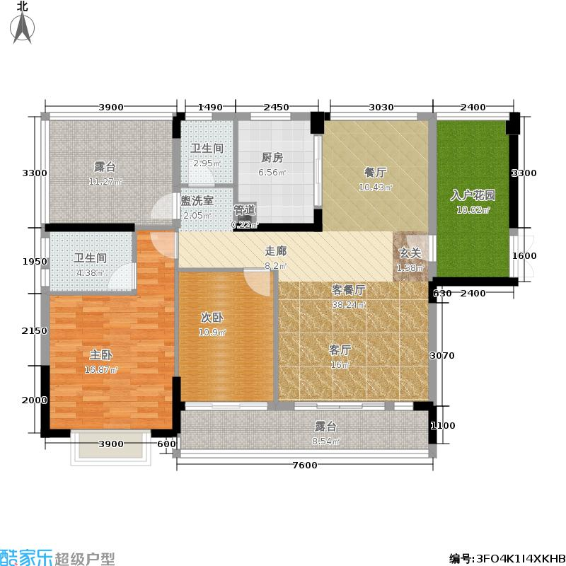 新地东方明珠1栋01/10+1户型2室2厅