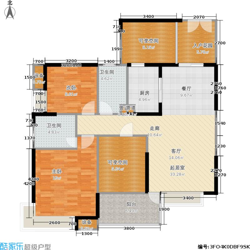 海骏达蜀都1号109.09㎡二期1-5号楼标准层C3户型