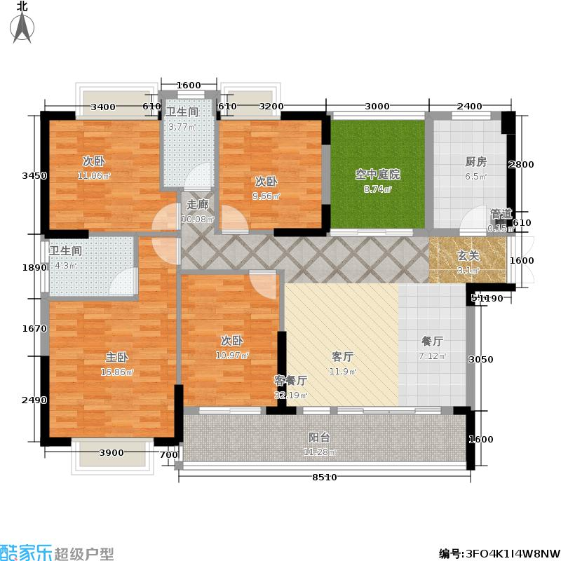 新地东方明珠143.00㎡伯爵2栋+1户型2室2厅