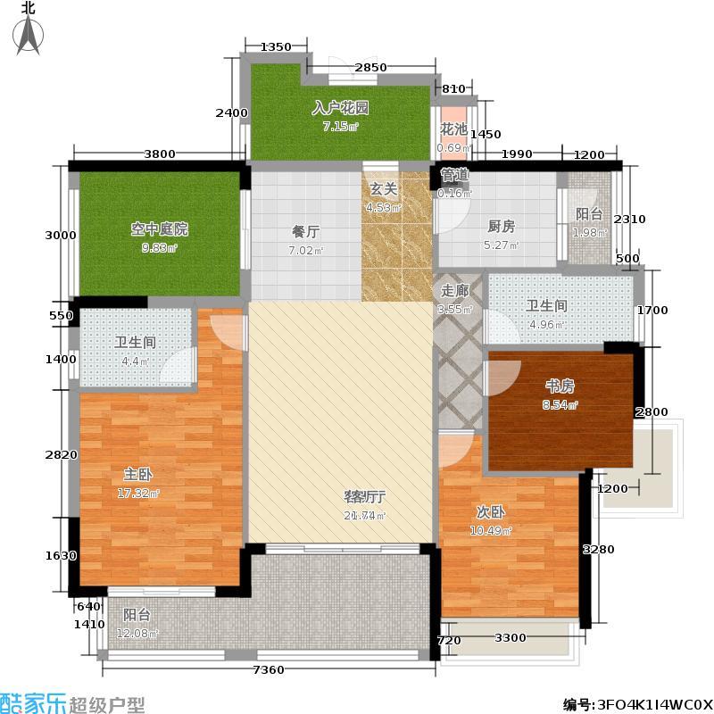 新地东方明珠140.00㎡伯爵2栋+1户型3室2厅