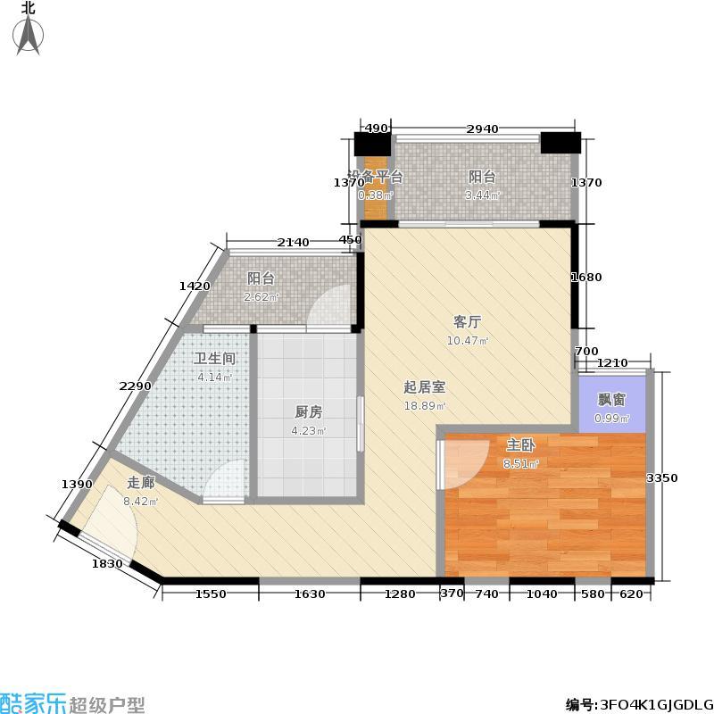 龙光普罗旺斯47.00㎡郁金香庄园户型