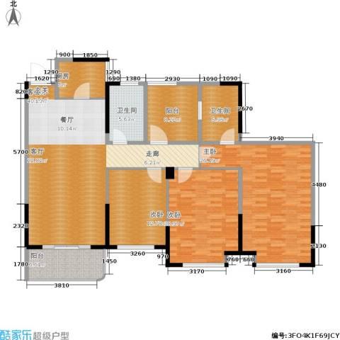 昆承湖国际花园3室1厅2卫1厨178.00㎡户型图