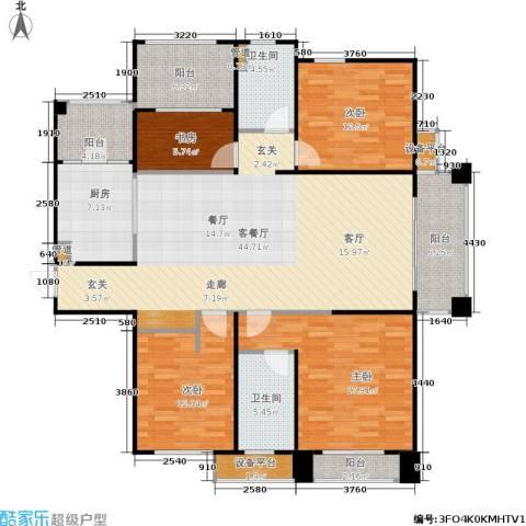 佛奥中金棕榈湾4室1厅2卫1厨144.00㎡户型图