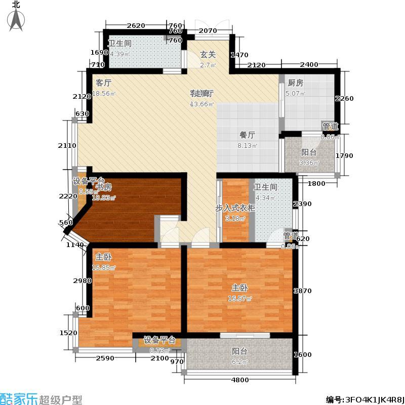兴庆宫147.00㎡1号楼B2户型3室2厅