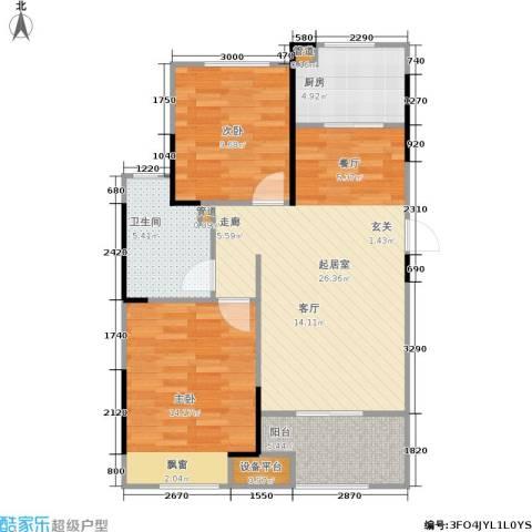 朗诗里程2室0厅1卫1厨78.00㎡户型图