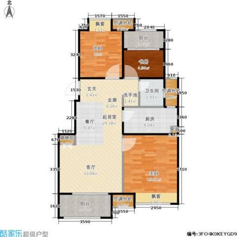 绿地芳满庭3室0厅1卫1厨89.00㎡户型图
