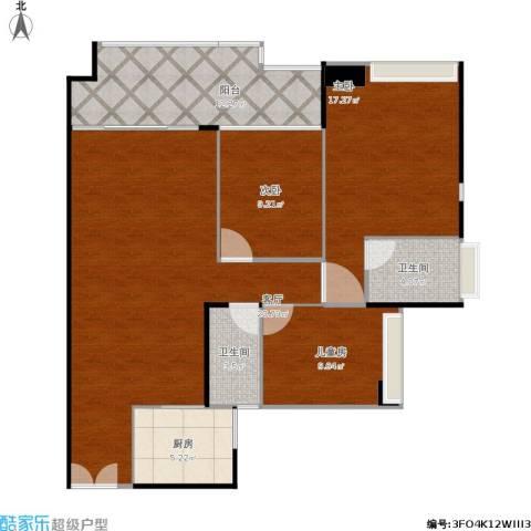 星光礼寓3室1厅2卫1厨127.00㎡户型图