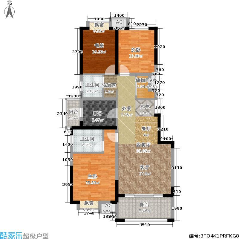 可逸兰亭104.00㎡C22+户型3室2厅