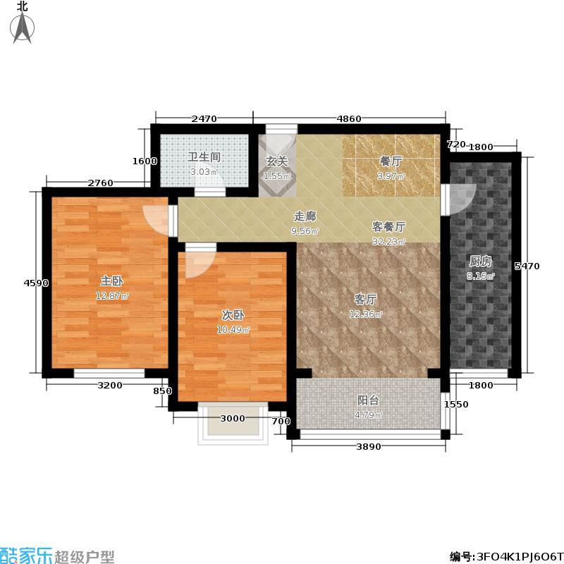 裕隆公寓二期95.00㎡C1户型2室2厅