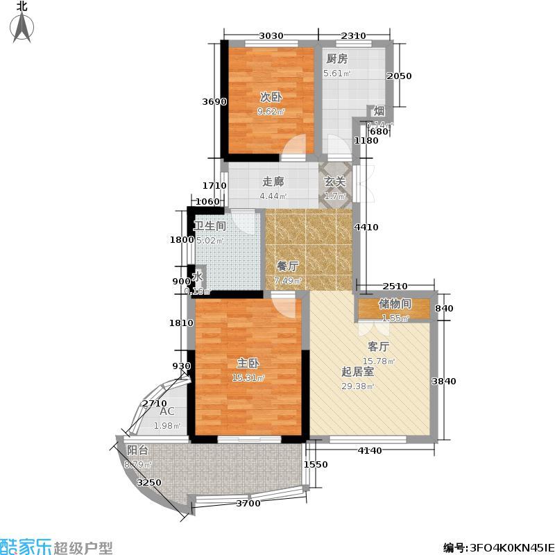 嘉业海悦90.00㎡公寓4号楼户型