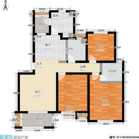 农房万祥金邸3室0厅2卫1厨115.00㎡户型图