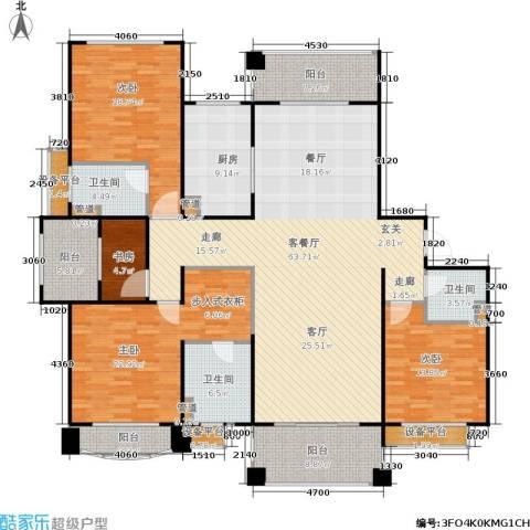 佛奥中金棕榈湾4室1厅3卫1厨193.00㎡户型图