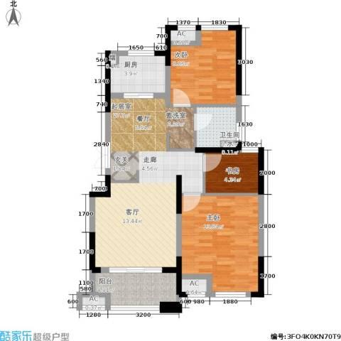 佳源名人公馆3室0厅1卫1厨85.00㎡户型图