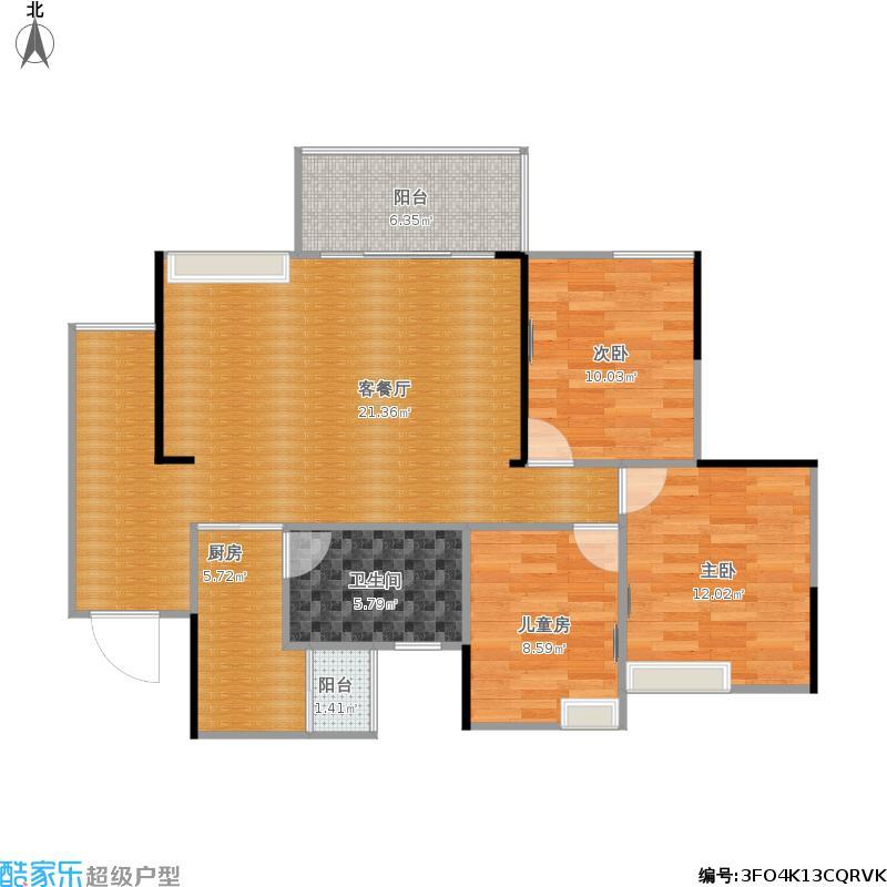 10栋E1-93平方三室两厅一卫