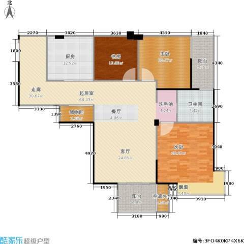 蓝堡公馆3室0厅1卫1厨170.00㎡户型图