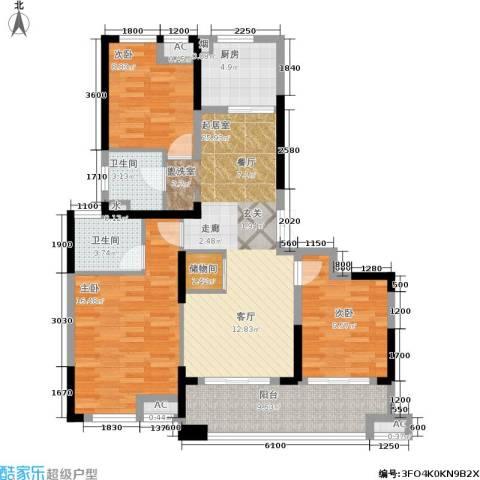 佳源名人公馆3室0厅2卫1厨116.00㎡户型图