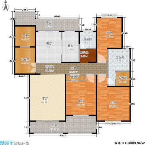 锦绣逸庭3室0厅2卫1厨148.00㎡户型图