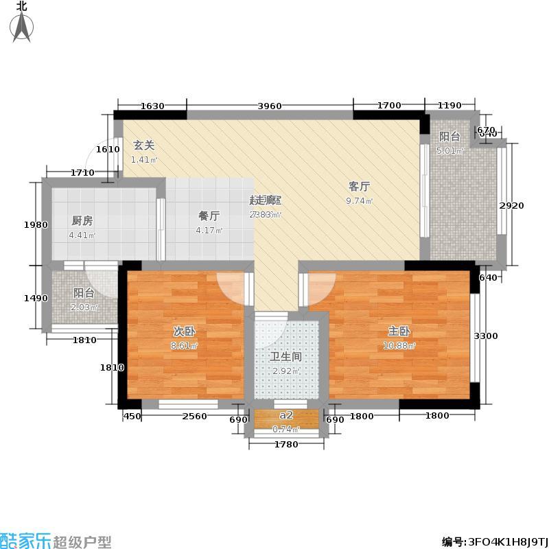 金科廊桥水乡61.55㎡二期D6栋标准层5号房/D7栋标准层3号房户型
