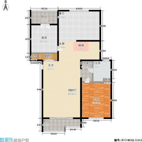江南御府1室1厅1卫1厨212.00㎡户型图