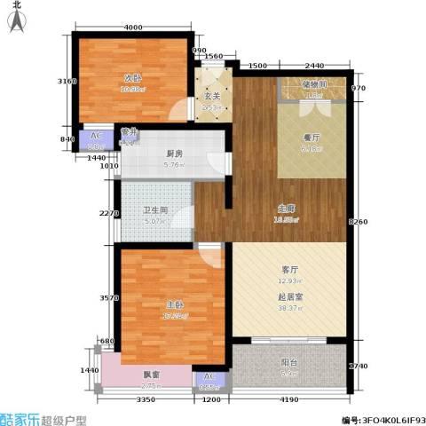 宝地东花园2室0厅1卫1厨99.00㎡户型图