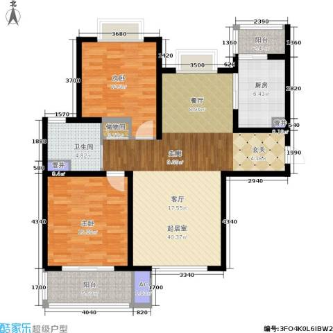宝地东花园2室0厅1卫1厨103.00㎡户型图
