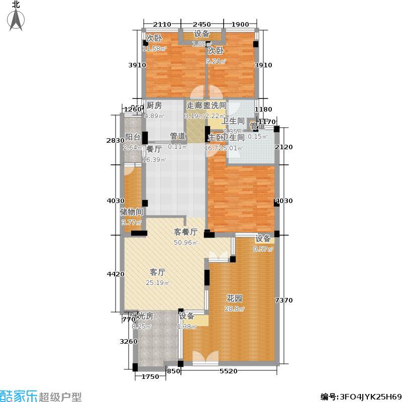 当代国际花园十五区高层139.00㎡td1户型