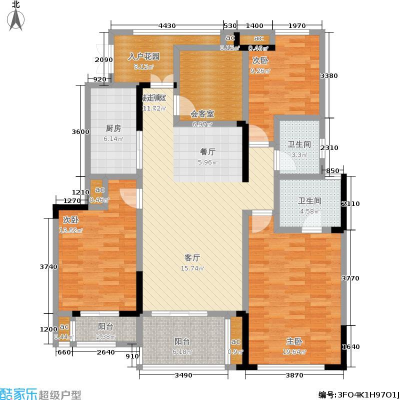 金科廊桥水乡116.30㎡二期17、18栋洋房11楼户型