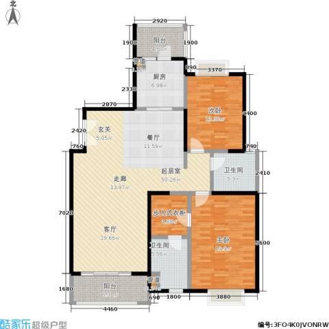 远雄徐汇园2室0厅2卫1厨131.00㎡户型图