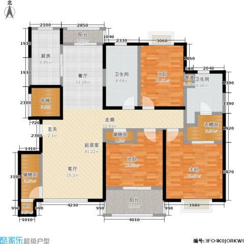 嘉乐东润舒庭3室0厅2卫1厨140.00㎡户型图