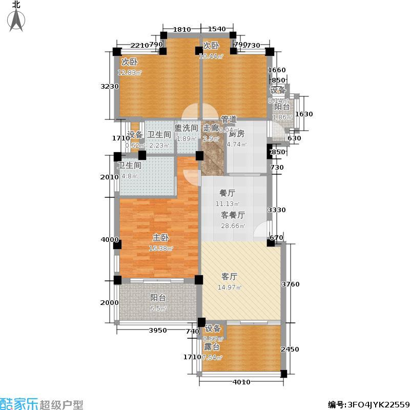 当代国际花园十五区高层110.38㎡tas3户型