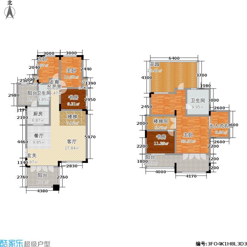 金科廊桥水乡117.37㎡二期23-33号洋房第5层端头户型