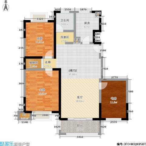 远洋7号3室0厅1卫1厨110.00㎡户型图