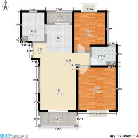 嘉乐东润舒庭2室0厅1卫1厨89.00㎡户型图
