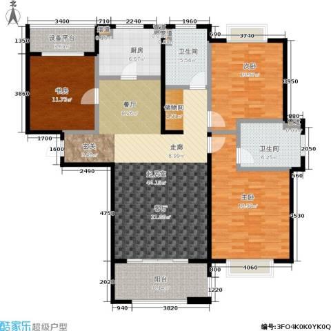 绿地百年宅3室0厅2卫1厨130.00㎡户型图