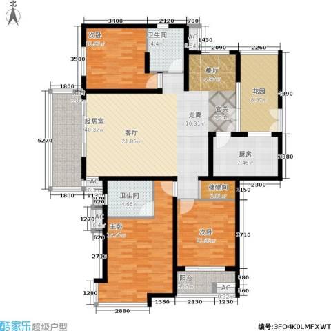 大华铂金华府3室0厅2卫1厨138.00㎡户型图