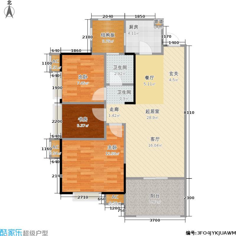 广电兰亭都荟90.00㎡11、12号楼面积9000m户型